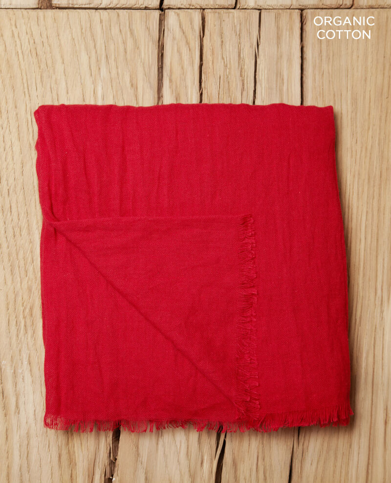 Cotton scarf Pompeian red Geste