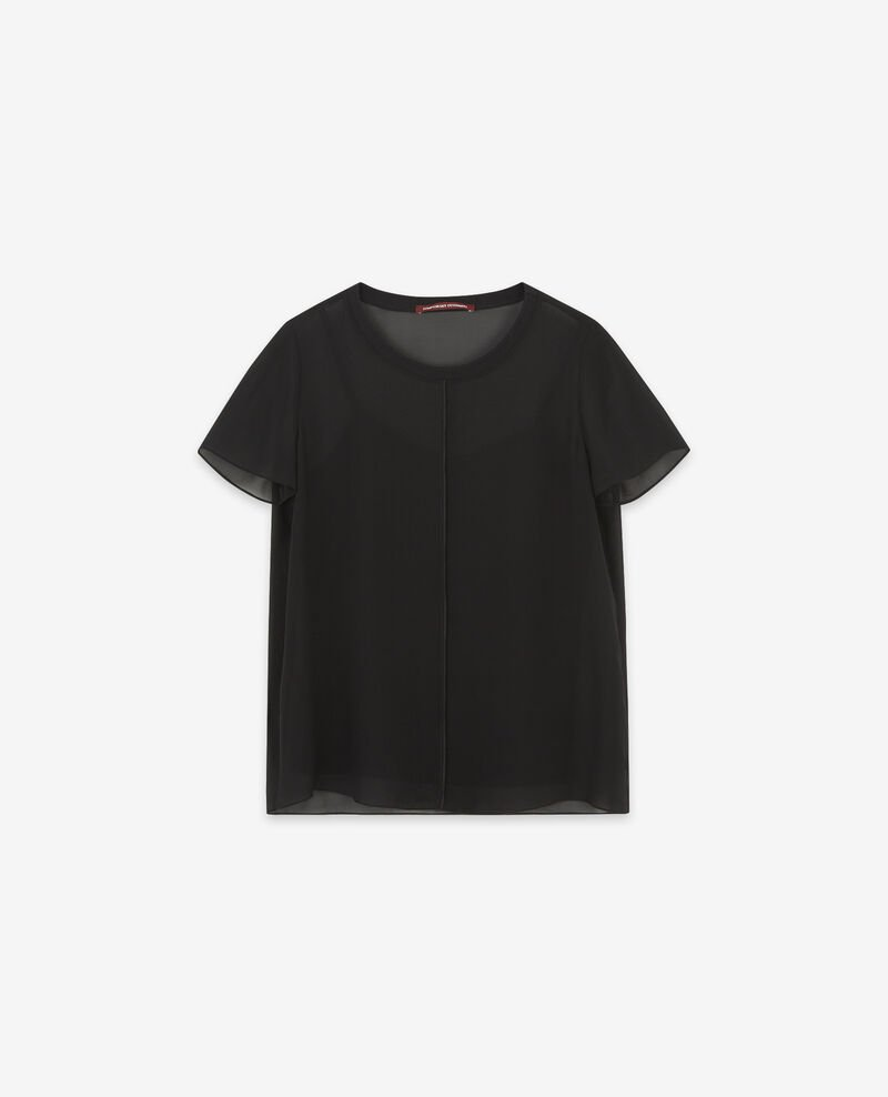 Long-sleeved silk t-shirt Noir Dartiste