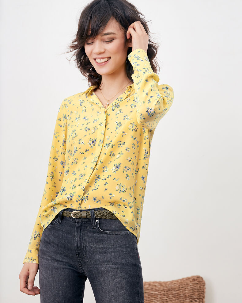 Printed silk shirt Lillybell lemon Follower