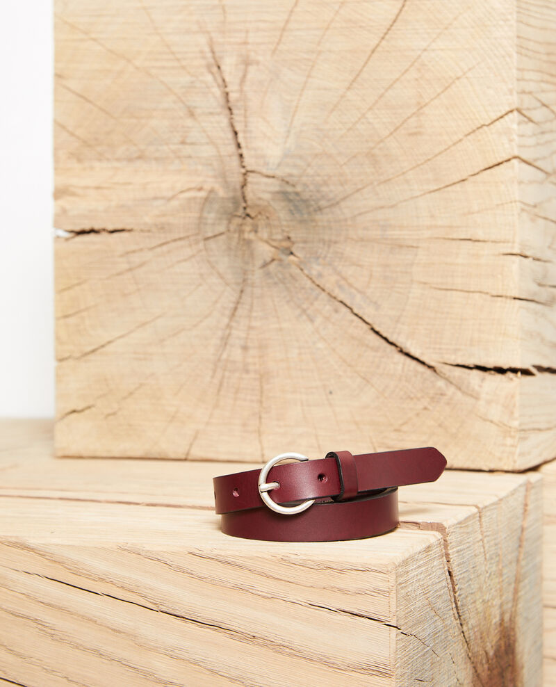 Smooth leather belt, small model DECADENTE CHOCOLATE