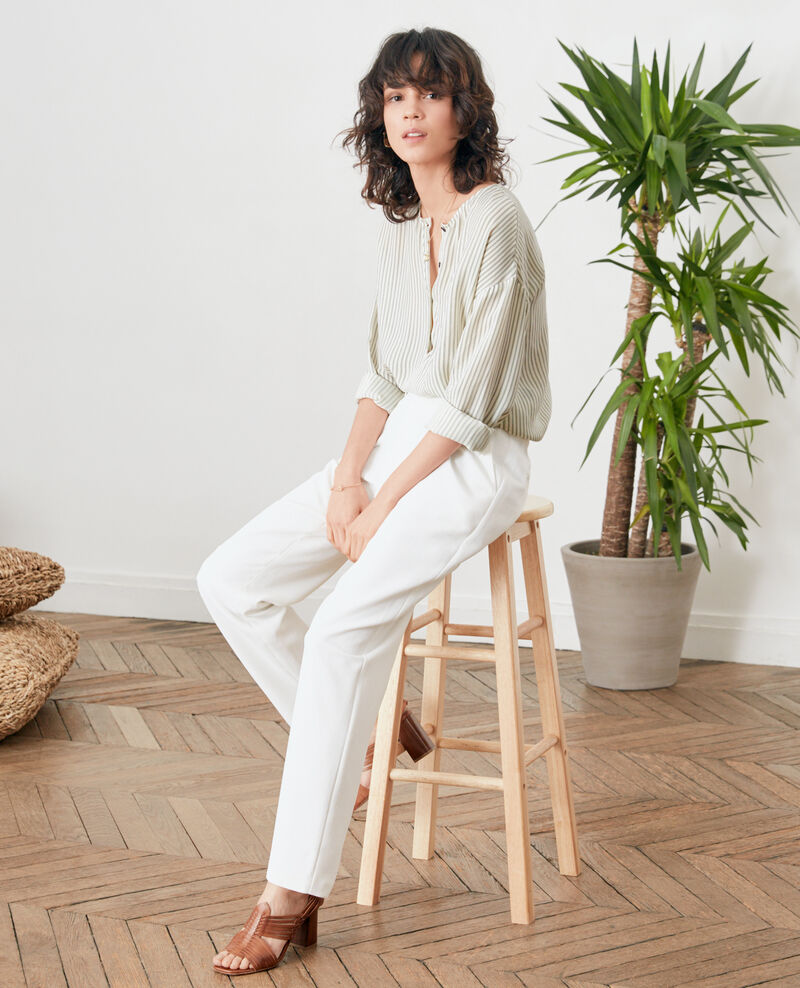 Crepe trousers BLANC