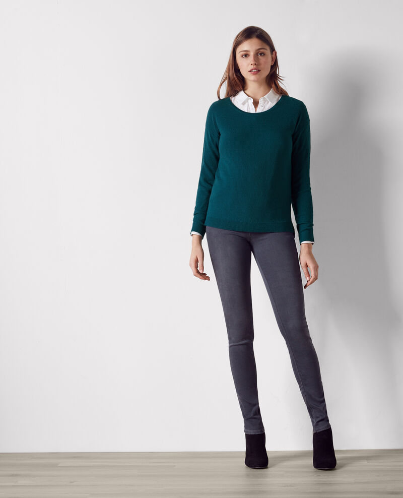 Wool jumper Berlin blue Casimir