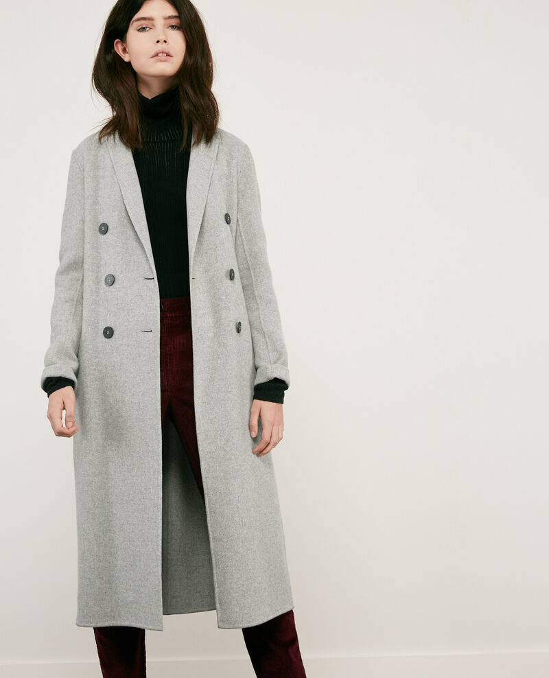 Double-faced wool coat LIGHT GREY