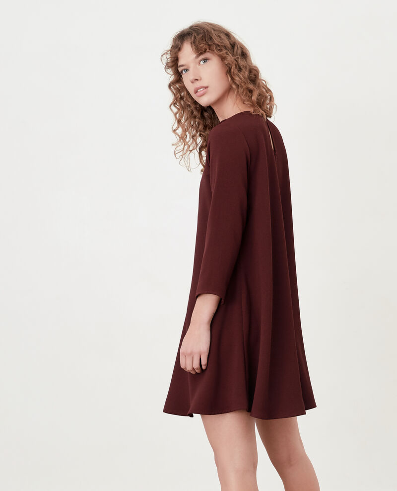 Peter Pan collar dress Burgundy Donatella