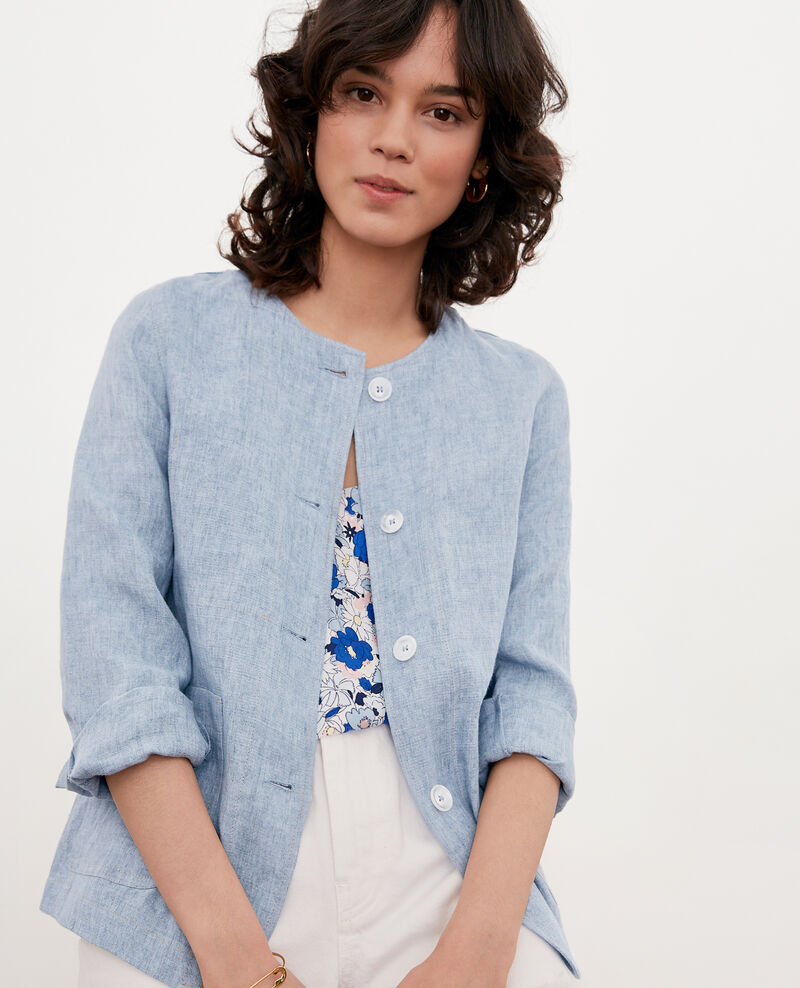 Soft linen jacket AZUR