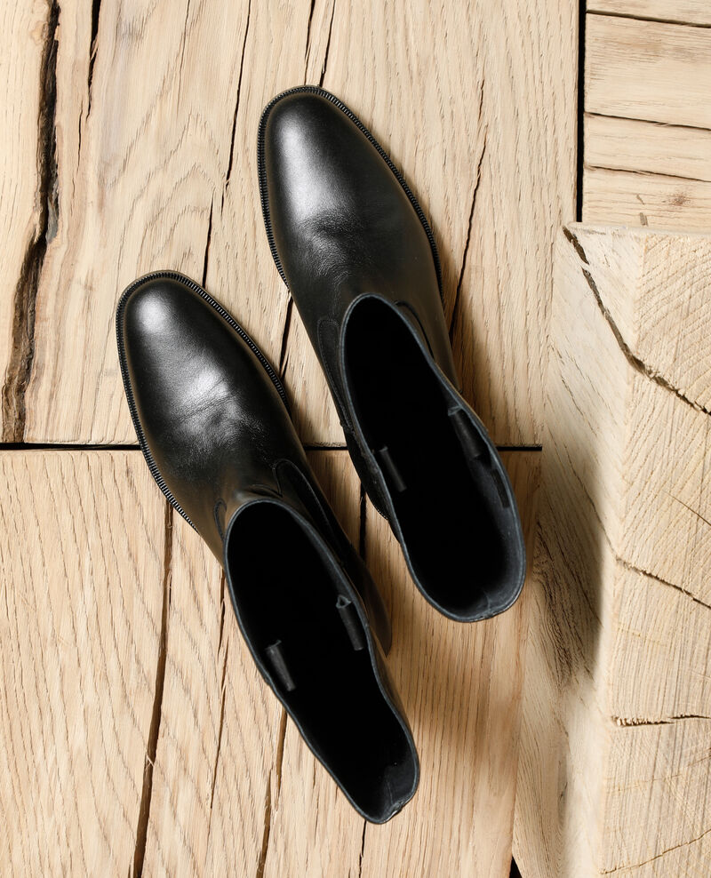 Smooth leather boots Noir Gemini