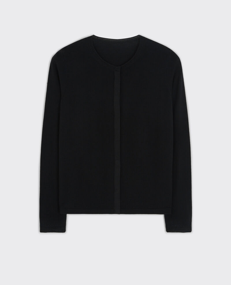 Fine-knit wool cardigan Noir Cook
