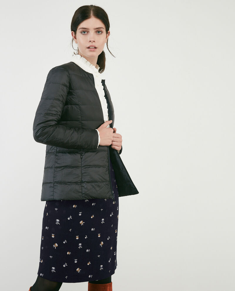 Pocketable reversible puffer jacket Dark slate blue Caliner