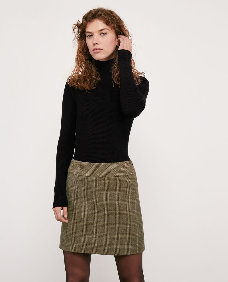 Herringbone tweed skirt Chamois Dastelnau