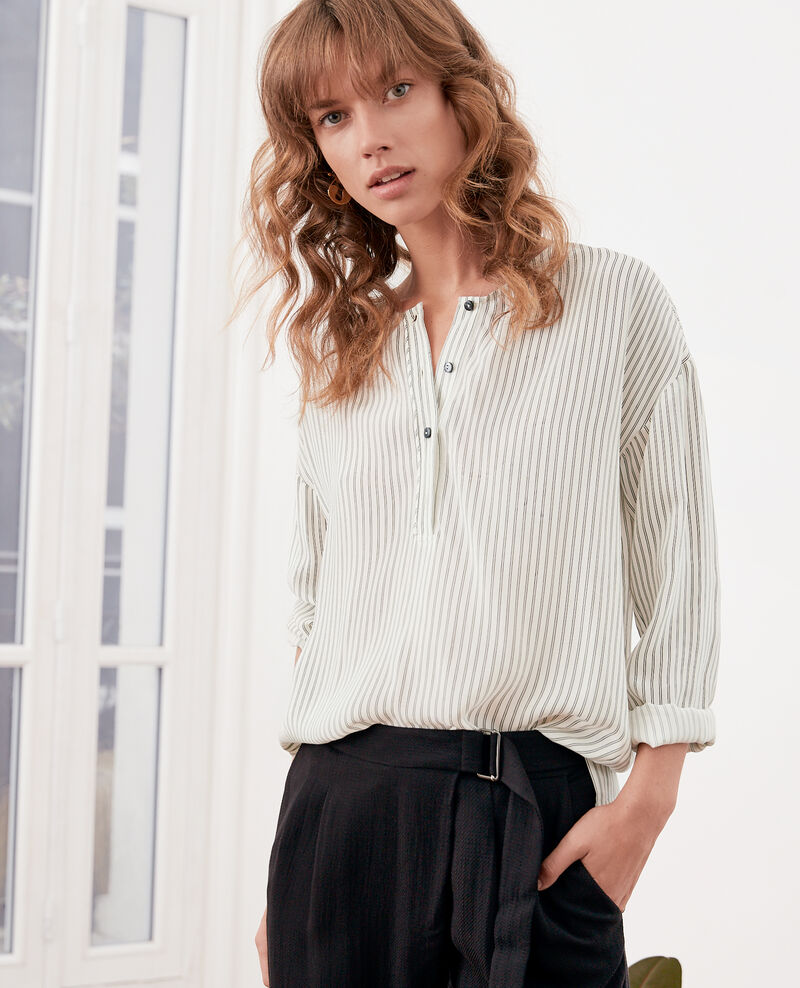 Striped blouse Off white/black stripes Fraise