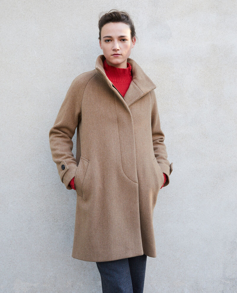 Coat with stand-up collar TRUSH