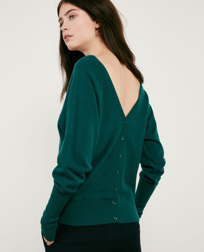 100% cashmere cardigan Deep green Dusexy
