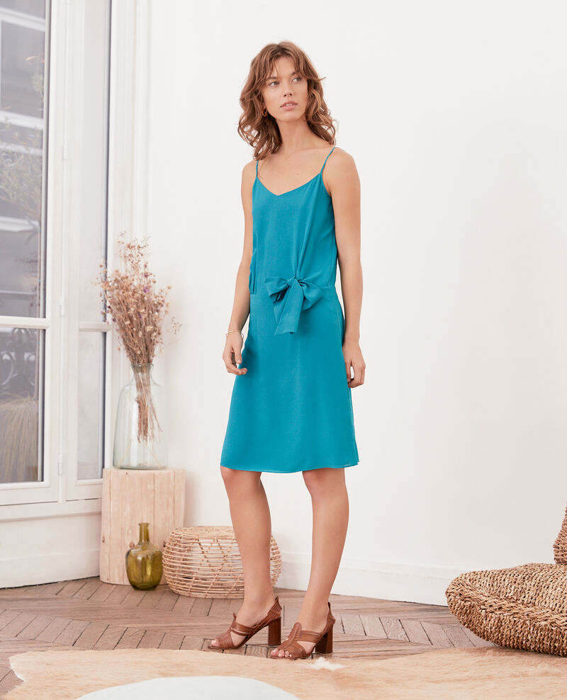 Silk dress PACIFIC GREEN