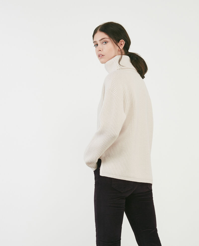 100% wool roll neck jumper Off white Dacheville