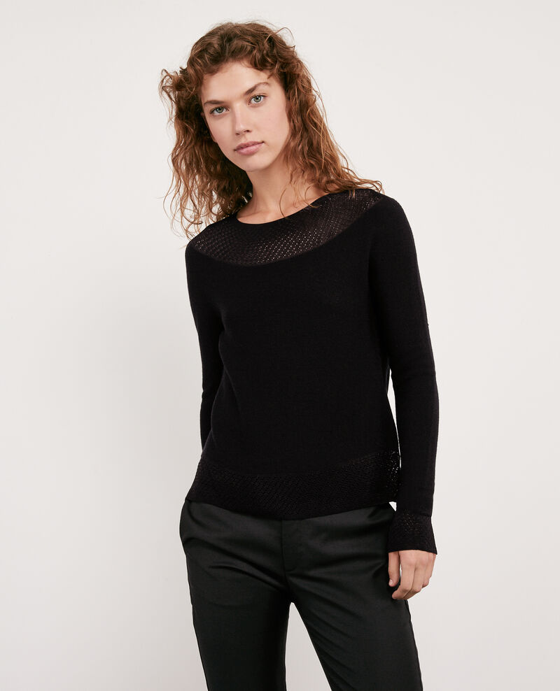Seam-free 100% wool jumper Noir Disposition