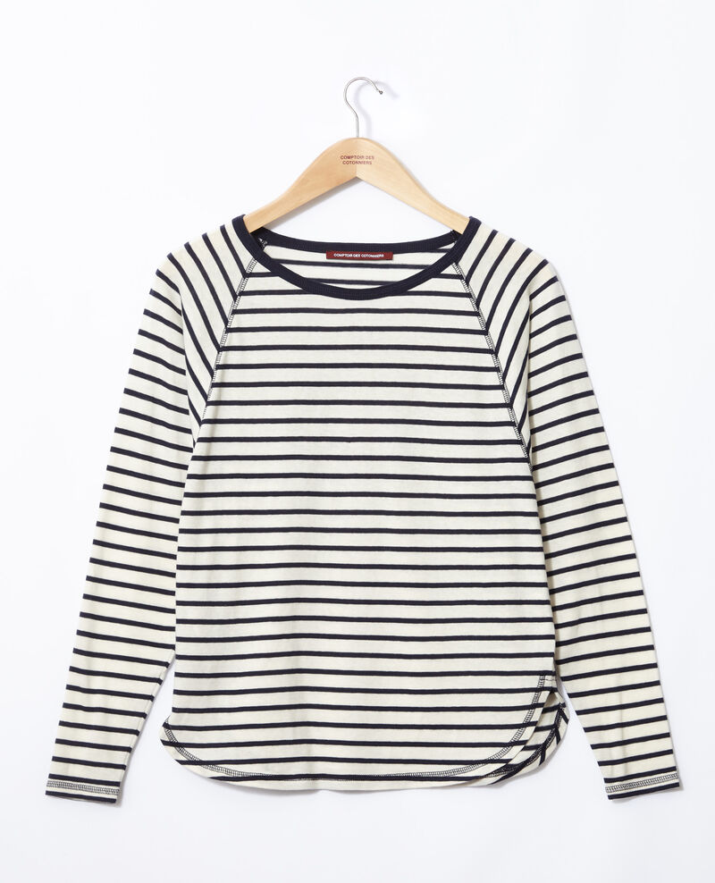 Striped T-shirt Off white/peacoat Gainde