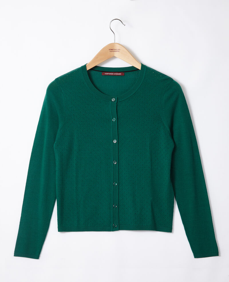 Merino wool cardigan Evergreen Godard