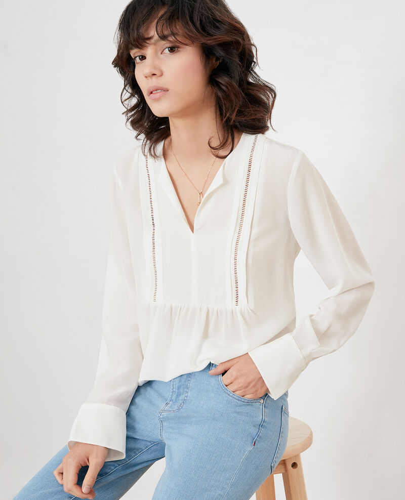 Silk blouse Off white Fippex