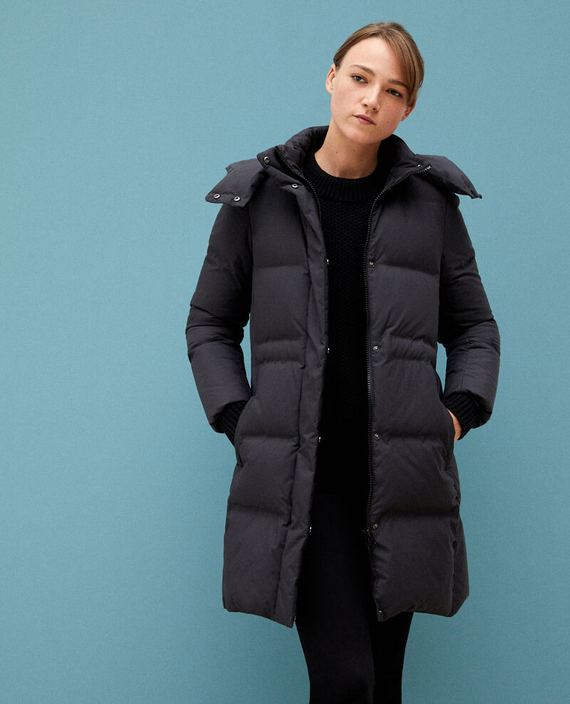 Large feather and down jacket Black