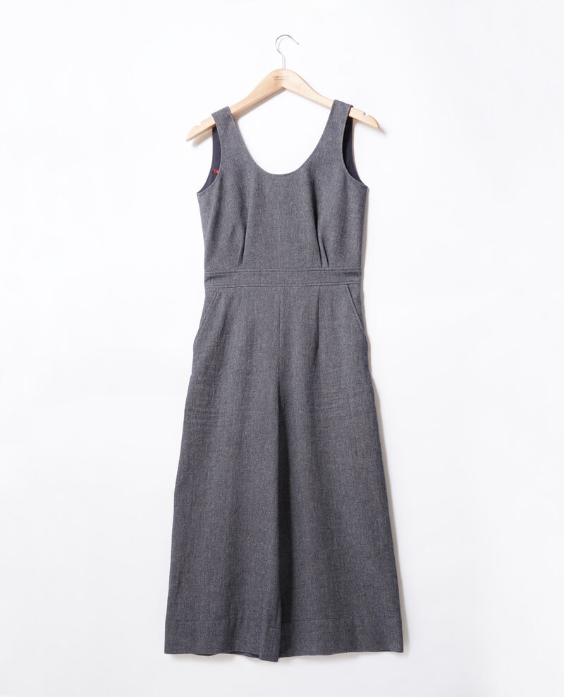 Jumpsuit with round neck  INDIGO