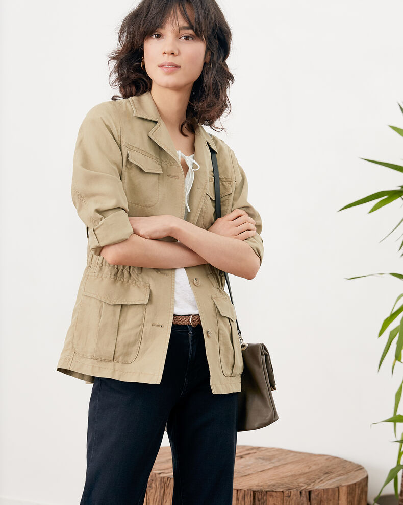 Safari jacket with linen MASTIC
