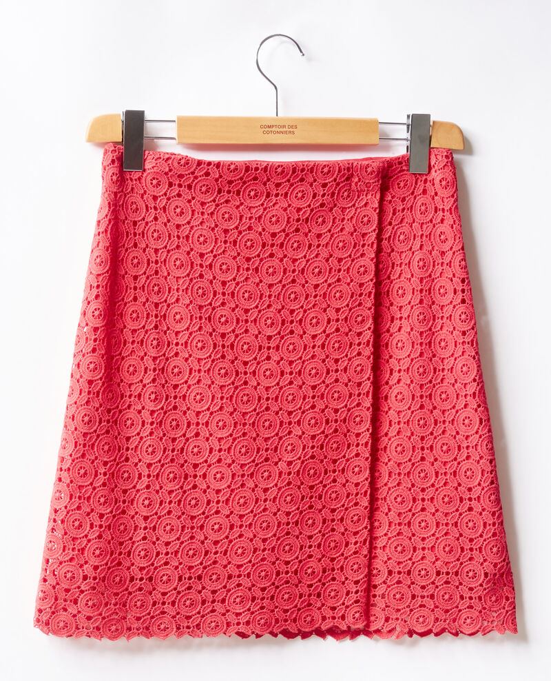 Broderie anglaise wrap skirt Ultra pink Fordeaux