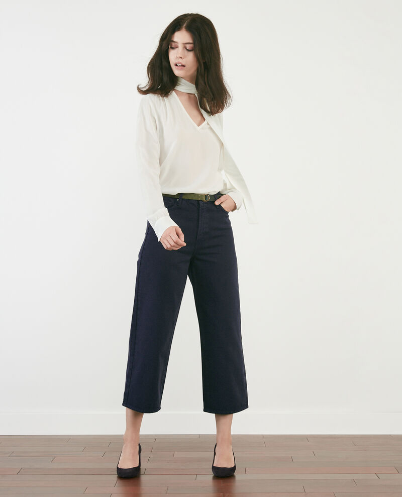 Wide cropped jeans NAVY OVERDYE