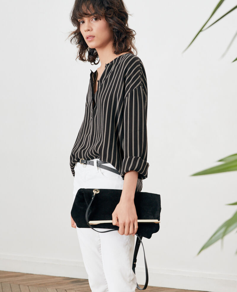 Striped blouse Black/off white stripes Fraise