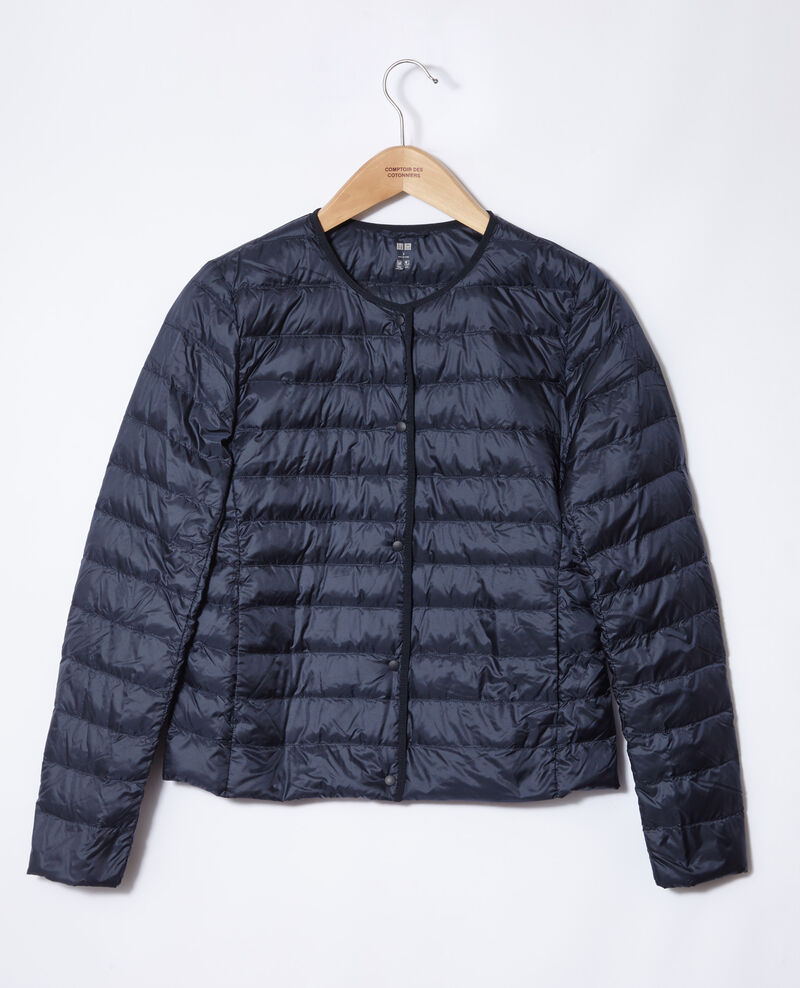 Ultra-light padded jacket with round collar Navy Fildown