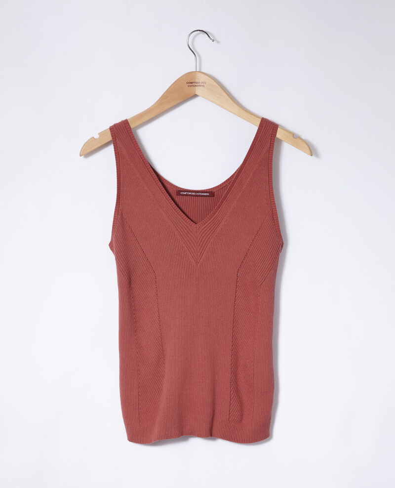 Cotton vest top Cowhide Givre