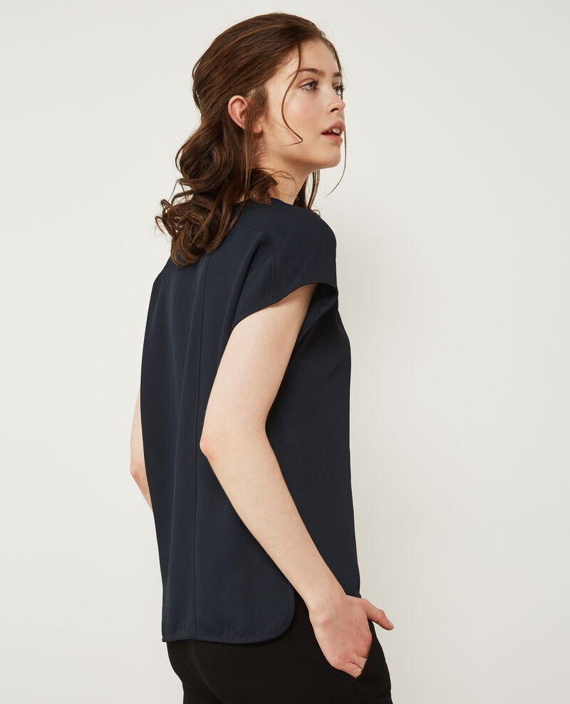 Crepe top Navy Dalicia