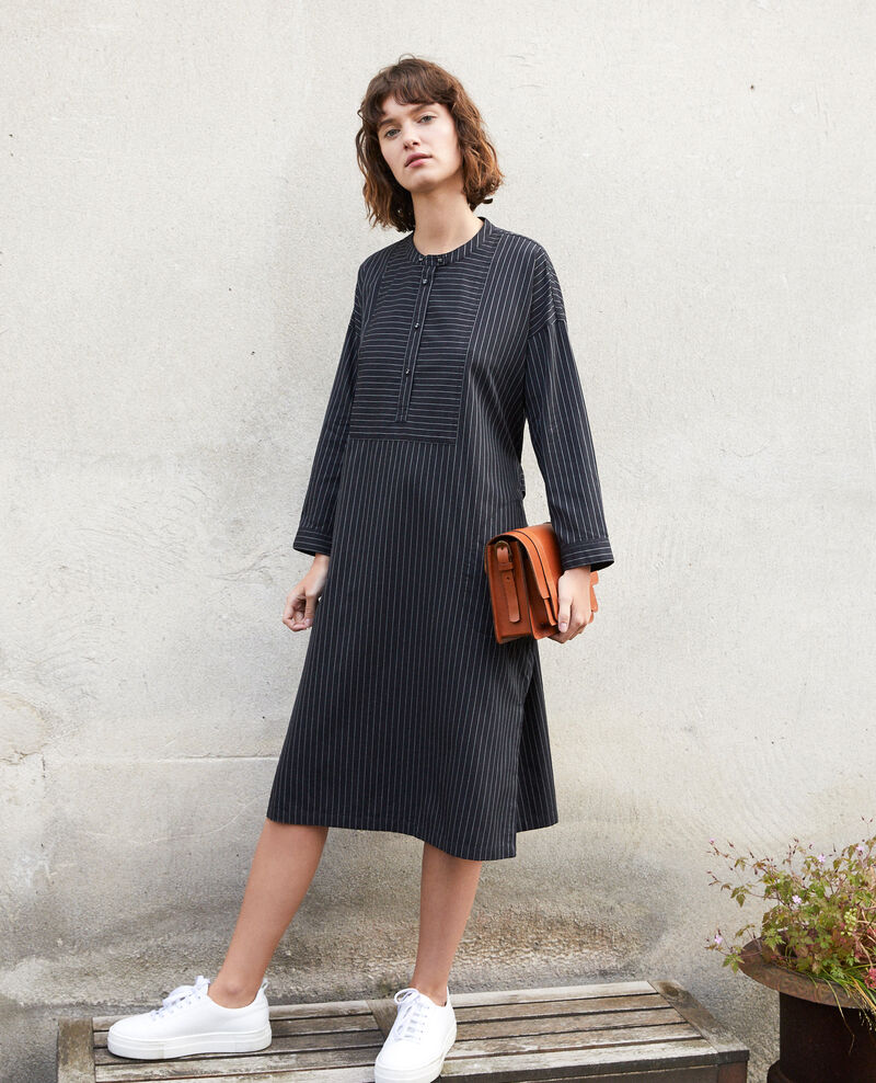 Mandarin collar dress NOIR