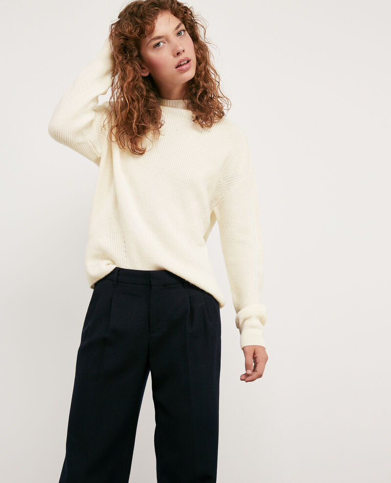 Woll and alpaca jumper Off white Damelila