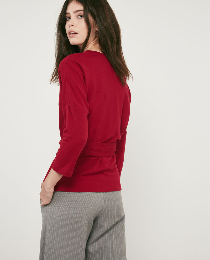 Wool blend belted sweater Devil Debongout