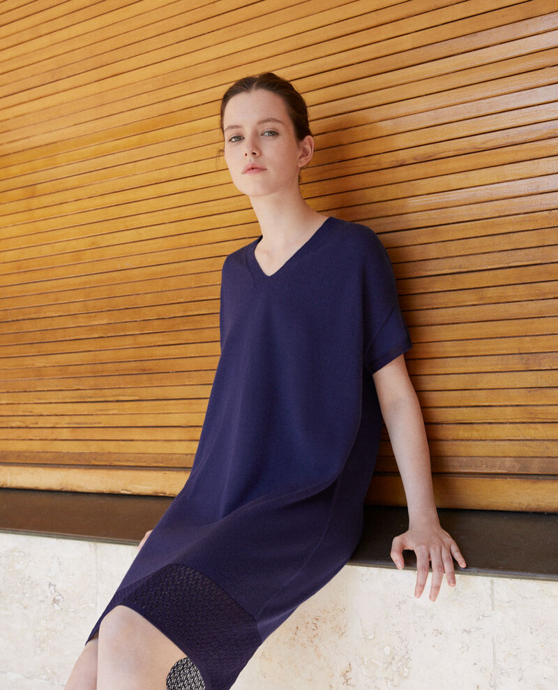 Zero-stitching knitted dress MEDIEVAL BLUE
