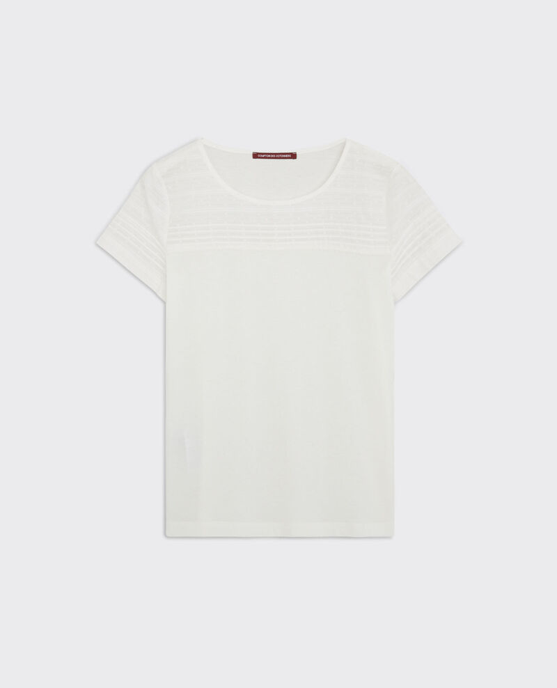 T-shirt with stitching detail at the top Off white Caviar