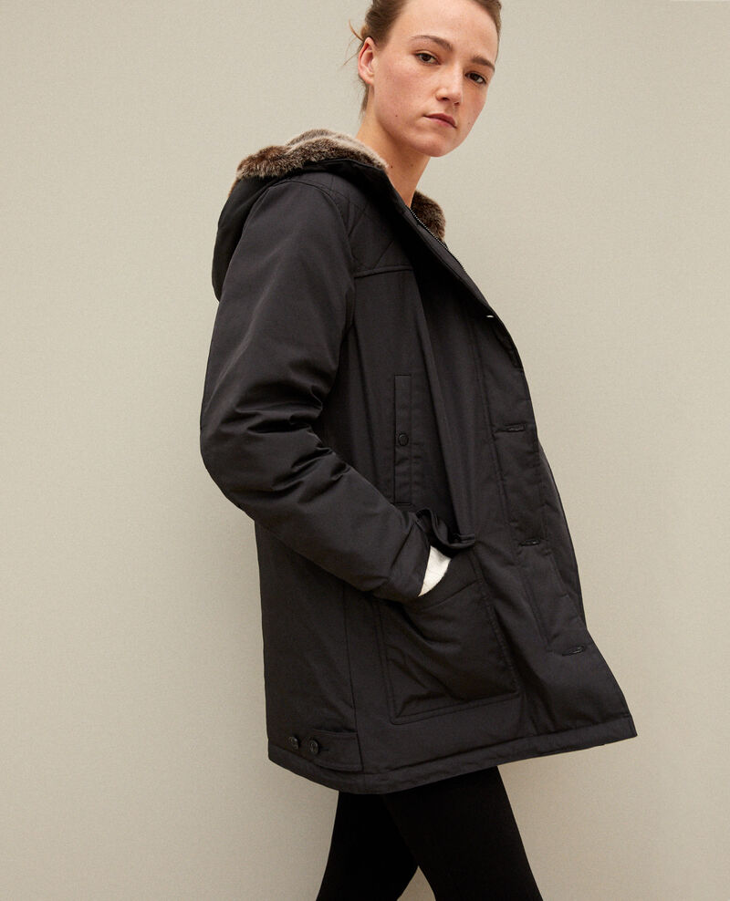 Hooded parka NOIR