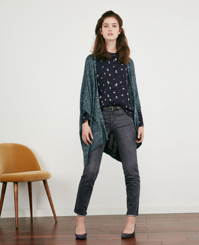 Cardigan with lurex details Deep sea/lurex Denada