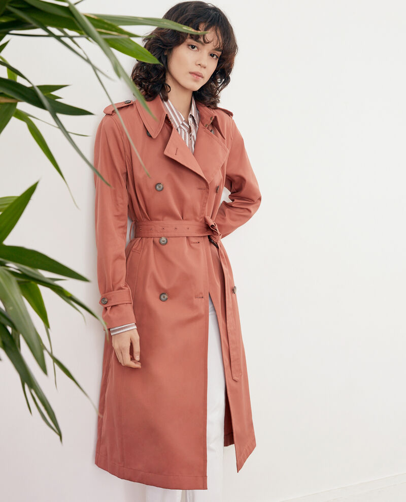 Iconic fit Trench coat AUBURN