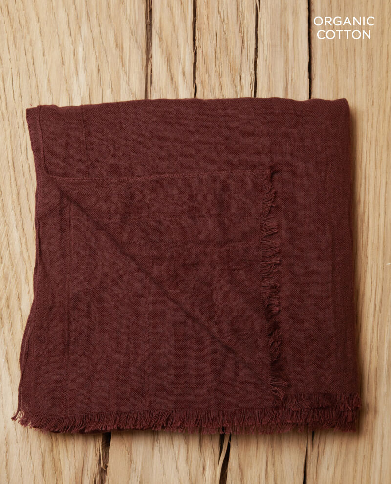 Organic cotton scarf Decadente chocolate Geste