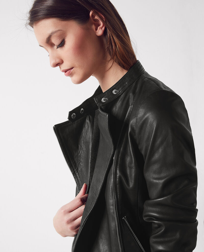 Leather jacket Noir Chat