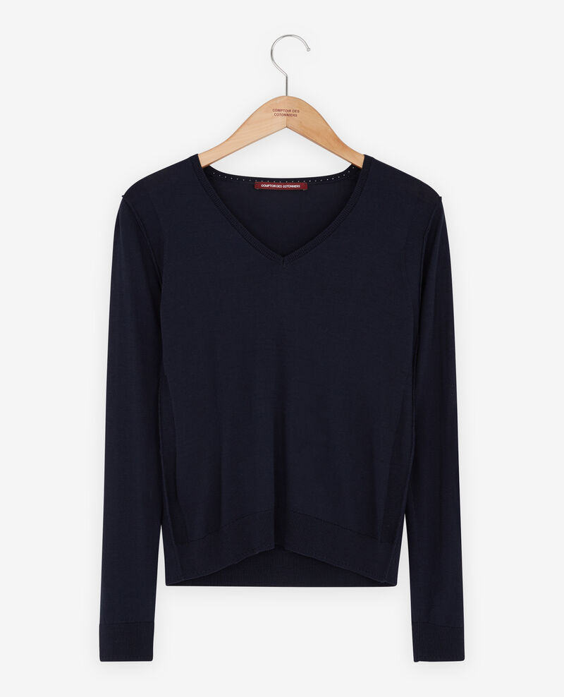 Jumper with silk Navy Froufrou