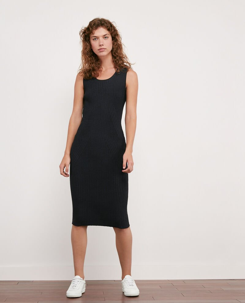 Ribbed knit dress Noir Deika