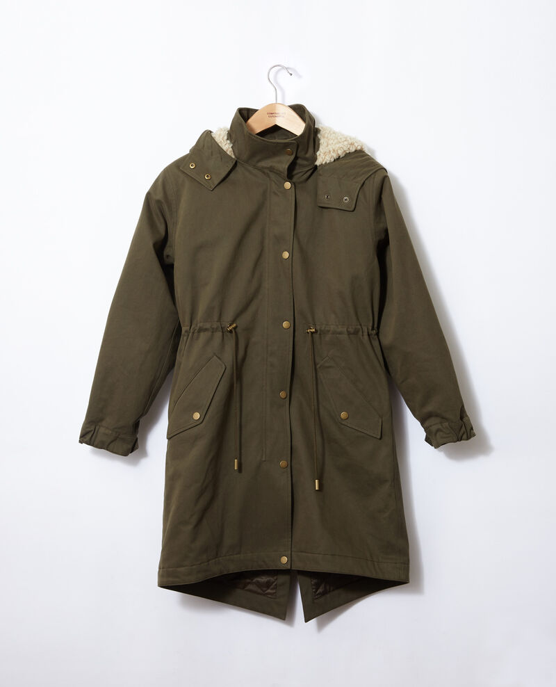 Hooded parka Olive night Ganache