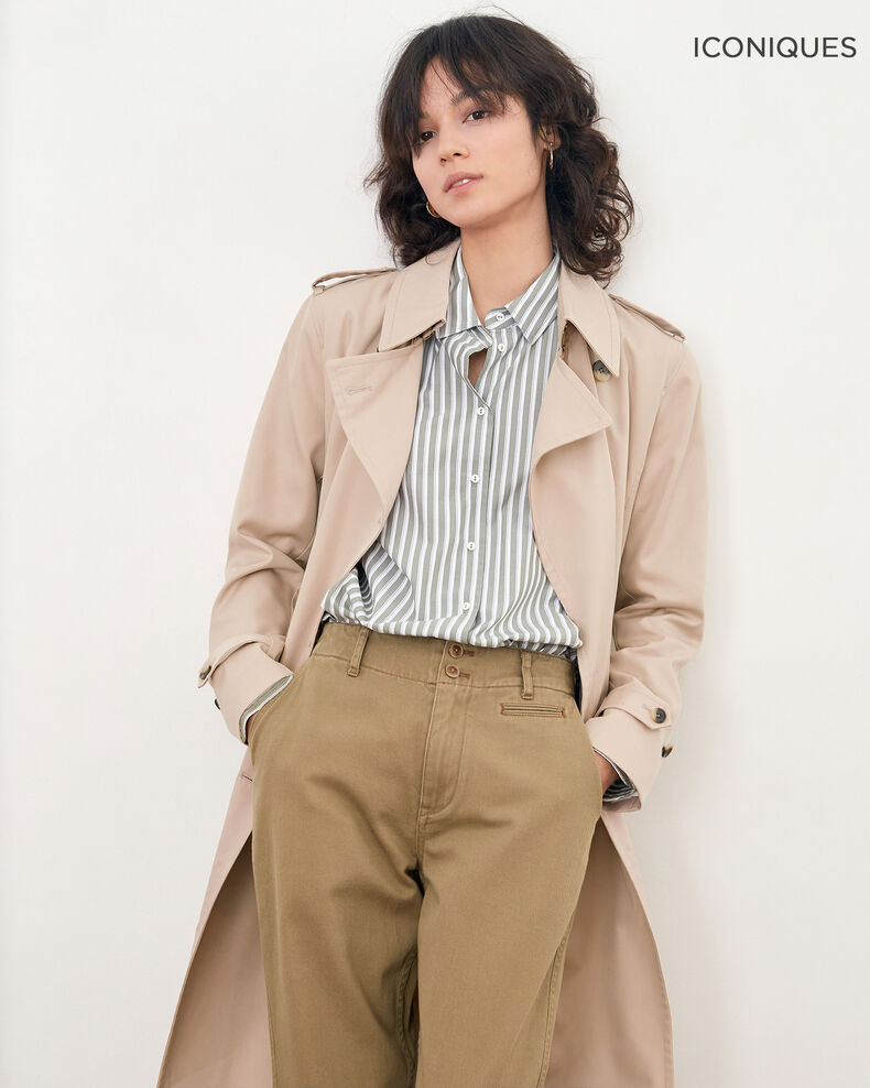 Iconic fit Trench coat TAN
