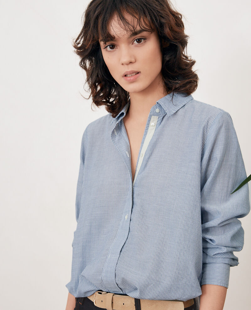 Striped oversize shirt Stone blue stripes Freelance