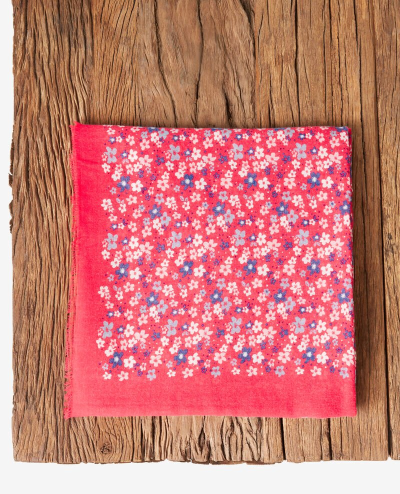 Printed scarf HONOLULU ULTRA PINK