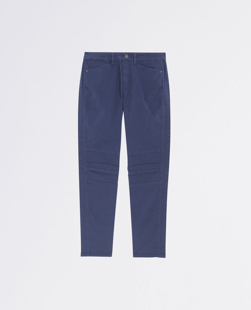 Slim cropped jeans with stitchings Ink blue 9bagio
