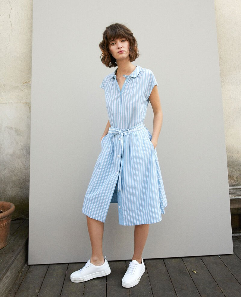 Belted skirt Adriatic/off white stripes Gareth