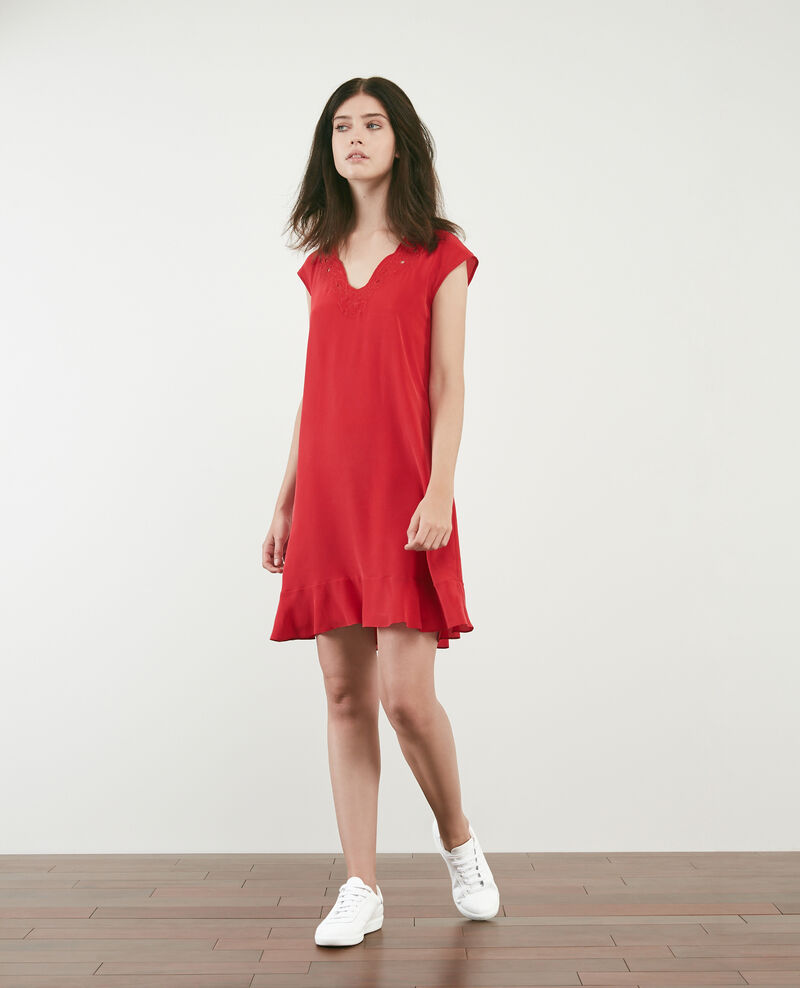 Silk dress Chili pepper Dalienor